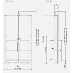 HDPE Sluice gate PKS-FI
