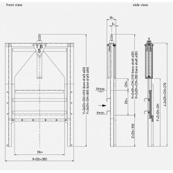 HDPE Overflow gate POS