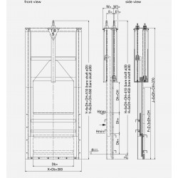HDPE Double overflow gate DPOS