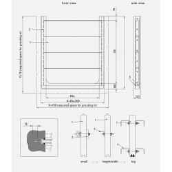 HDPE Stop log PSS-HDPE/RVS